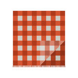 Roter Picknickstoff Stockfotografie