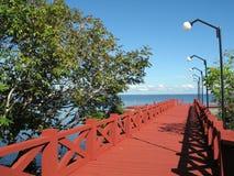 Roter Pier Stockbild