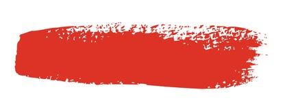 Roter Pinselanschlag Stockfoto
