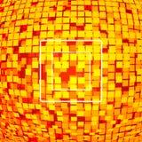 Roter Pixeltechnologiehintergrund Stockfoto