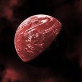 Roter Planet Stockbild
