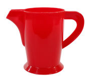Roter Plastikkesselpitcher stockfotos