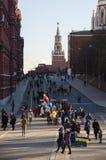 Roter Platz während der Winterurlaube Lizenzfreie Stockbilder