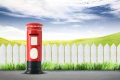 Roter Postbox Lizenzfreie Stockfotografie