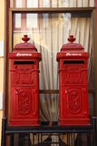 Roter Postbox Stockbild