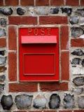 Roter PostBox-Briefkasten-Briefkasten Stockbild