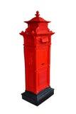 Roter Postbox getrennt auf Weiß Lizenzfreie Stockbilder