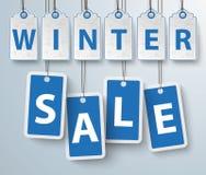 Roter Preis-Aufkleber-Winterschlussverkauf Stockfotos