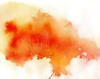 Roter Punkt, abstrakter Hintergrund des Aquarells