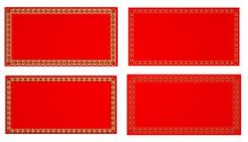 Roter Rahmen Lizenzfreie Stockfotos