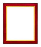 Roter Rahmen auf weißem Hintergrund lizenzfreies stockbild