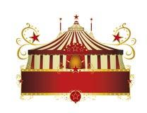 Roter Rahmen des Zirkusses Grenz vektor abbildung