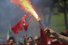 Roter Rauch lizenzfreies stockfoto