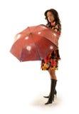 Roter Regenschirm Stockfotos