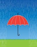 Roter Regenschirm vektor abbildung