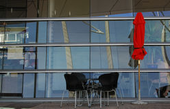 Roter Regenschirm Lizenzfreies Stockbild
