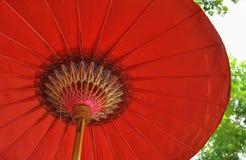 Roter Regenschirm Stockfoto