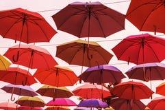 Roter Regenschirm Lizenzfreie Stockbilder