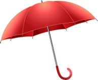 Roter Regenschirm Stockbilder