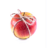 Roter reifer Apfel Stockfotografie