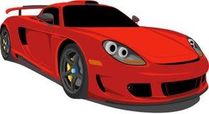 Roter Rennwagen Stockbild