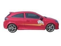 Roter Rennwagen Lizenzfreie Stockbilder