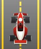 Roter Rennwagen Lizenzfreies Stockbild