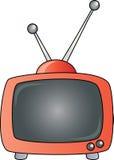Roter Retro- Fernsehapparat Lizenzfreie Stockfotografie