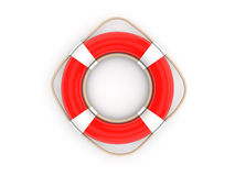 Roter Rettungsgürtel 3d Stockfoto