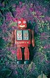 Roter Roboter Lizenzfreie Stockfotografie
