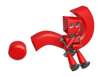 Roter Roboter Stockfoto