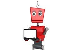 Roter Roboter Lizenzfreie Stockbilder