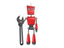 Roter Roboter Stockfotografie