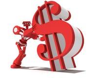 Roter Roboter Lizenzfreies Stockfoto