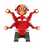 Roter Robotervektor Lizenzfreie Stockfotografie