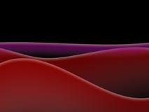Roter Rolling Hills Schwarz-Himmel Lizenzfreies Stockfoto