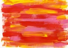 Roter rosa gelber Acrylhintergrund Lizenzfreie Stockfotografie