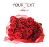 Roter Rose-Blumenstrauß lizenzfreies stockbild