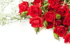 Roter Roseblumenstrauß Lizenzfreie Stockbilder