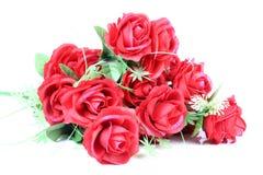 Roter Rosen-Blumenstrauß Stockfotografie
