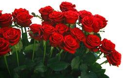 Roter Rosen-Blumenstrauß Lizenzfreies Stockbild