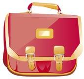 Roter Rucksack in der Gesichtsseite Lizenzfreie Stockfotografie