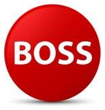 Roter runder Knopf des Chefs Lizenzfreie Stockfotos