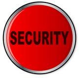 Roter runder Sicherheits-Knopf lokalisiert stock abbildung