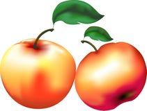 Roter saftiger Apfel Stockfoto