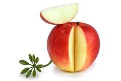 Roter saftiger Apfel Stockbild