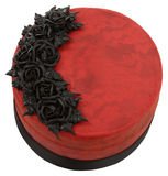 Roter Samt Goth Kuchen Lizenzfreies Stockbild