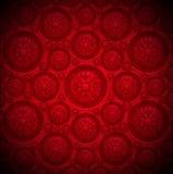 Roter Samt-Hintergrund mit klassischer Verzierung Lizenzfreie Stockfotografie