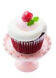 Roter Samt-kleiner Kuchen Stockfotografie