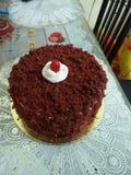 Roter Samt-Kuchen stockfotografie